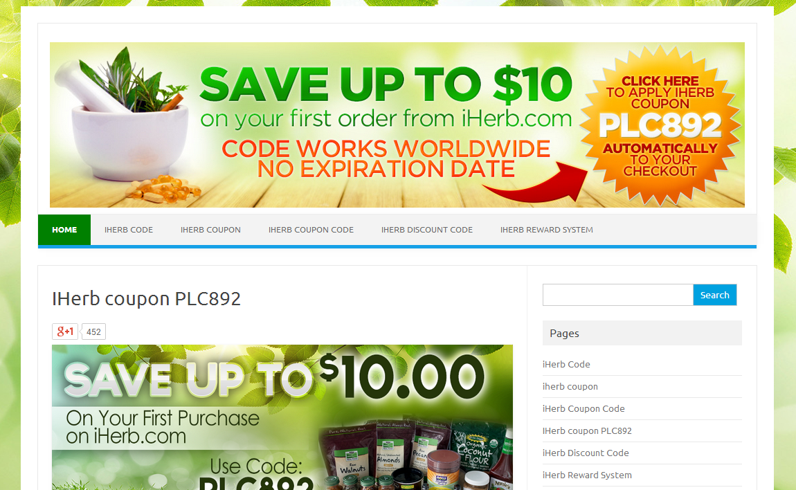 iherb coupon page
